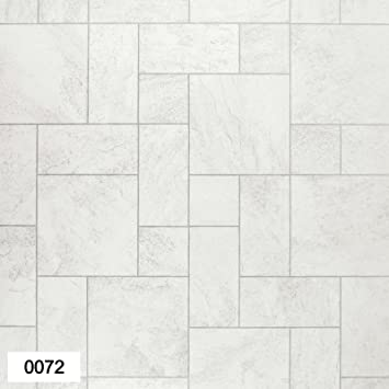 0072 Portland Whitecream Tile Effect Anti Slip Vinyl Flooring Home