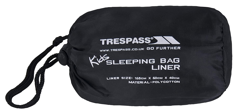 Trespass Kids Slumber - Sábanas de saco de dormir de acampada infantil, color gris UCACSLD20003_GRYEACH