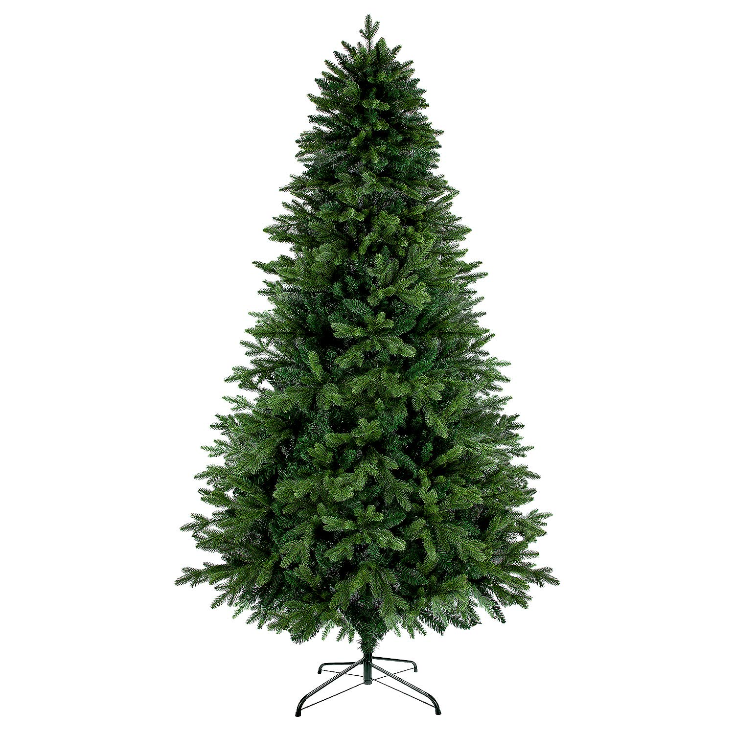 LUTER 7.5 Ft Artificial Christmas Tree Spruce Hinged Xmas Tree 1250 Branches for Indoor Outdoor Holiday Decoration Easy Assembling with Solid Christmas Tree Metal Stand (Green) by LUTER