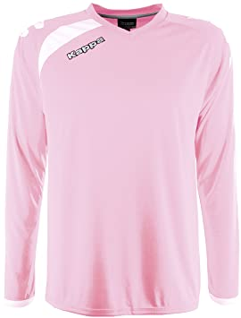 Kappa Pavie LS Camiseta Fútbol, Unisex, Rosa, 6Y/8Y