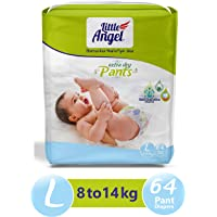 Little Angel Baby Diaper Pants, Large - 64 Count