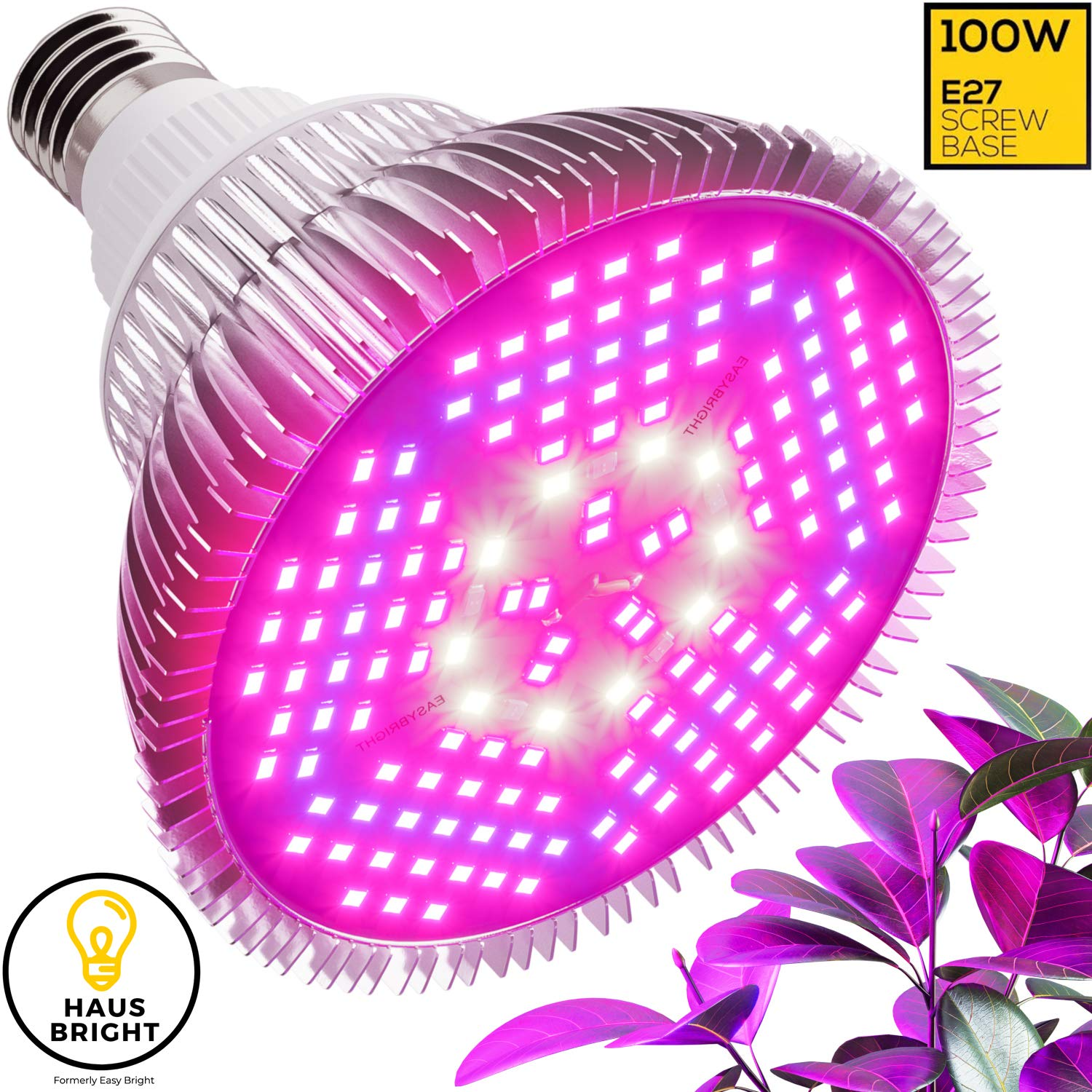 100W LED Grow Light Bulb - Full Spectrum Lamp for Indoor Plants, Garden,  Flowers, Vegetables, Greenhouse & Hydroponic Growing | E27 Base 150 LEDs