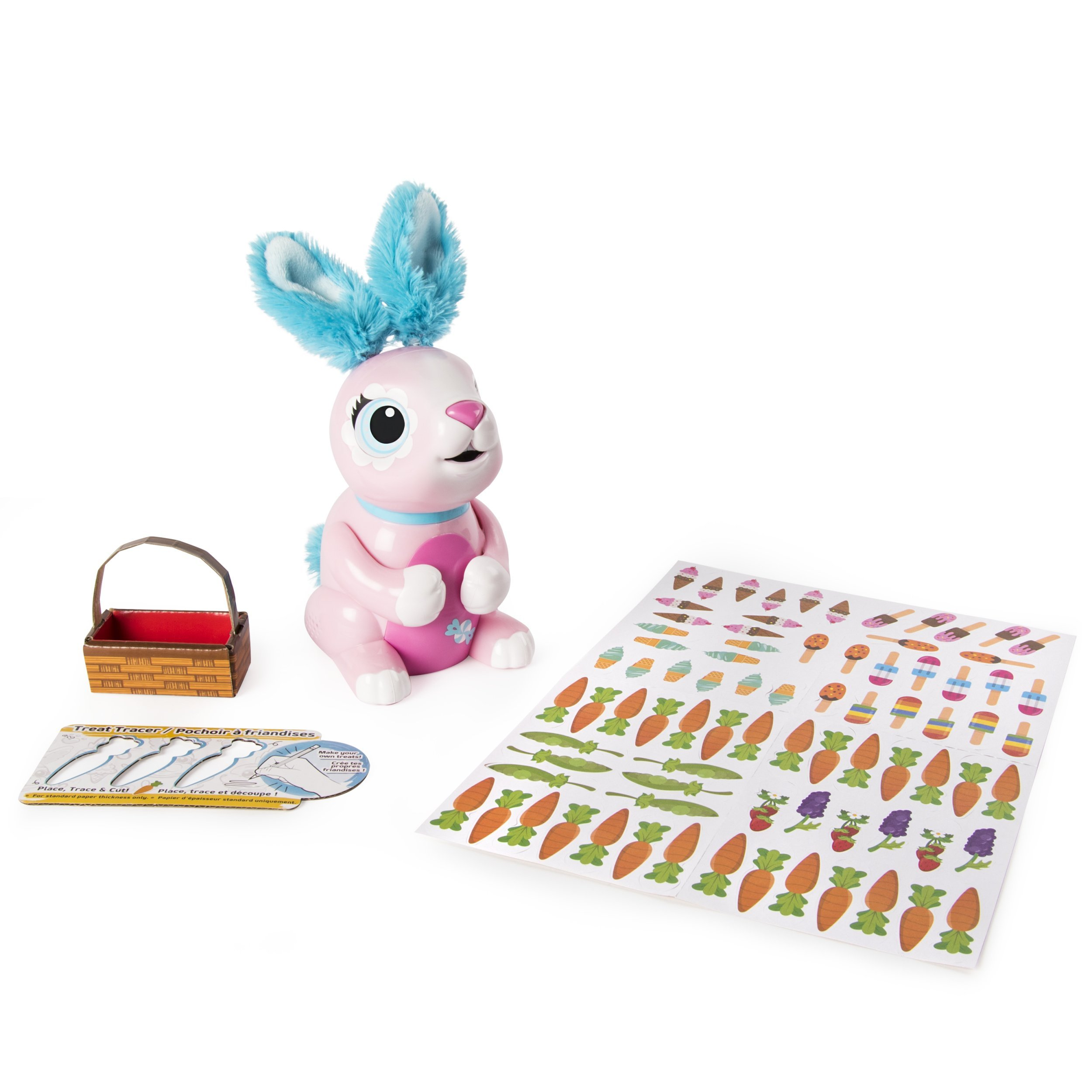Zoomer Hungry Bunnies Shreddy, Interactive Robotic Rabbit That Eats, Ages 5 & Up by Zoomer (Image #9)