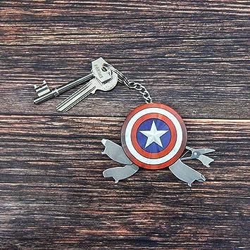 Paladone-GIFPAL198 Capitán América Llavero multiusos, Multicolor (PP3399MA)