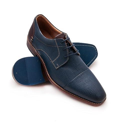 86fa7077 Zerimar Zapato de Piel para Hombre Zapato Elegante para Hombre Color Azul  Marino Talla 46: Amazon.es: Zapatos y complementos