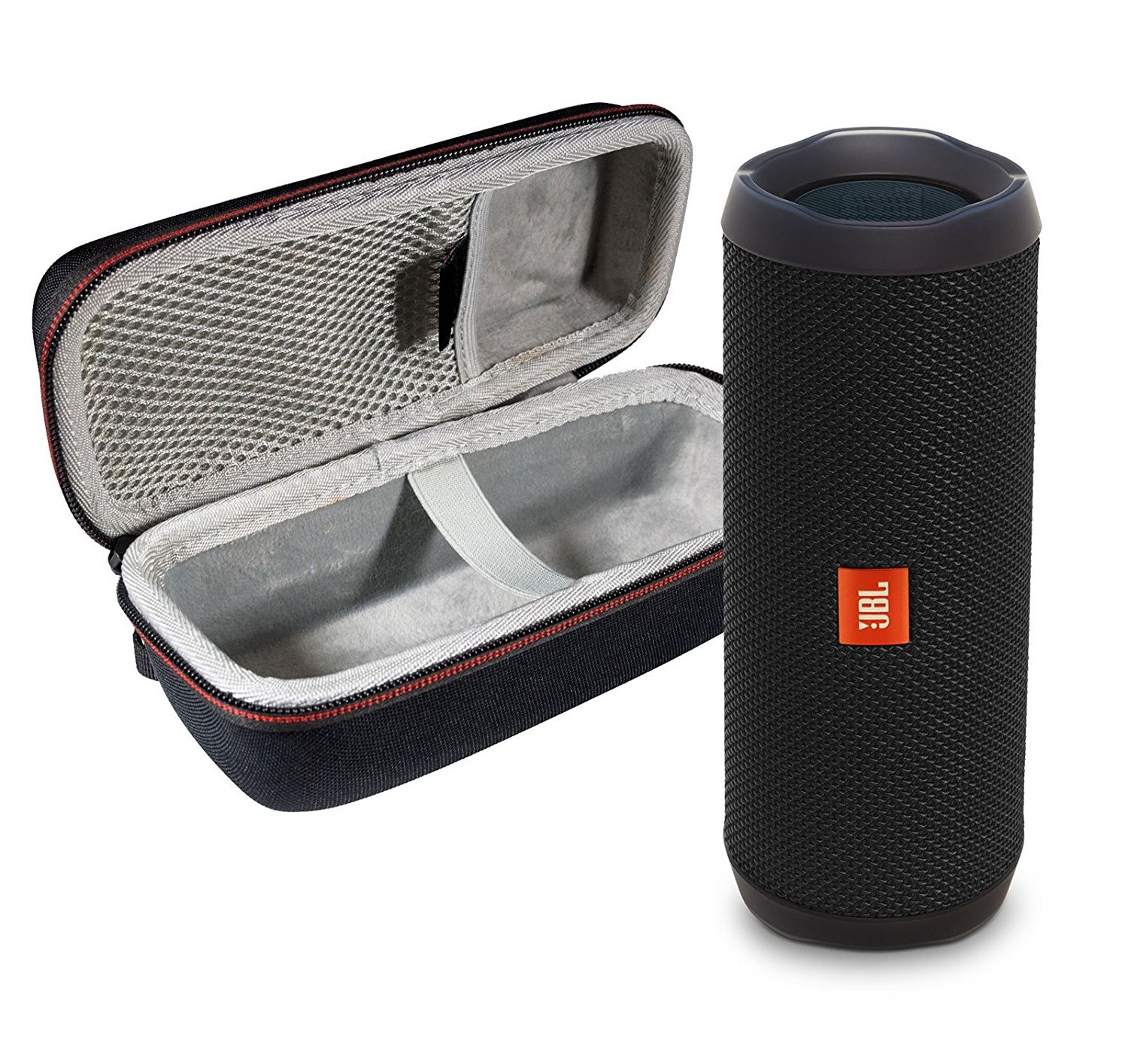 JBL Flip 4 Portable Bluetooth Wireless Speaker Bundle with Protective Travel Case - Black by JBL