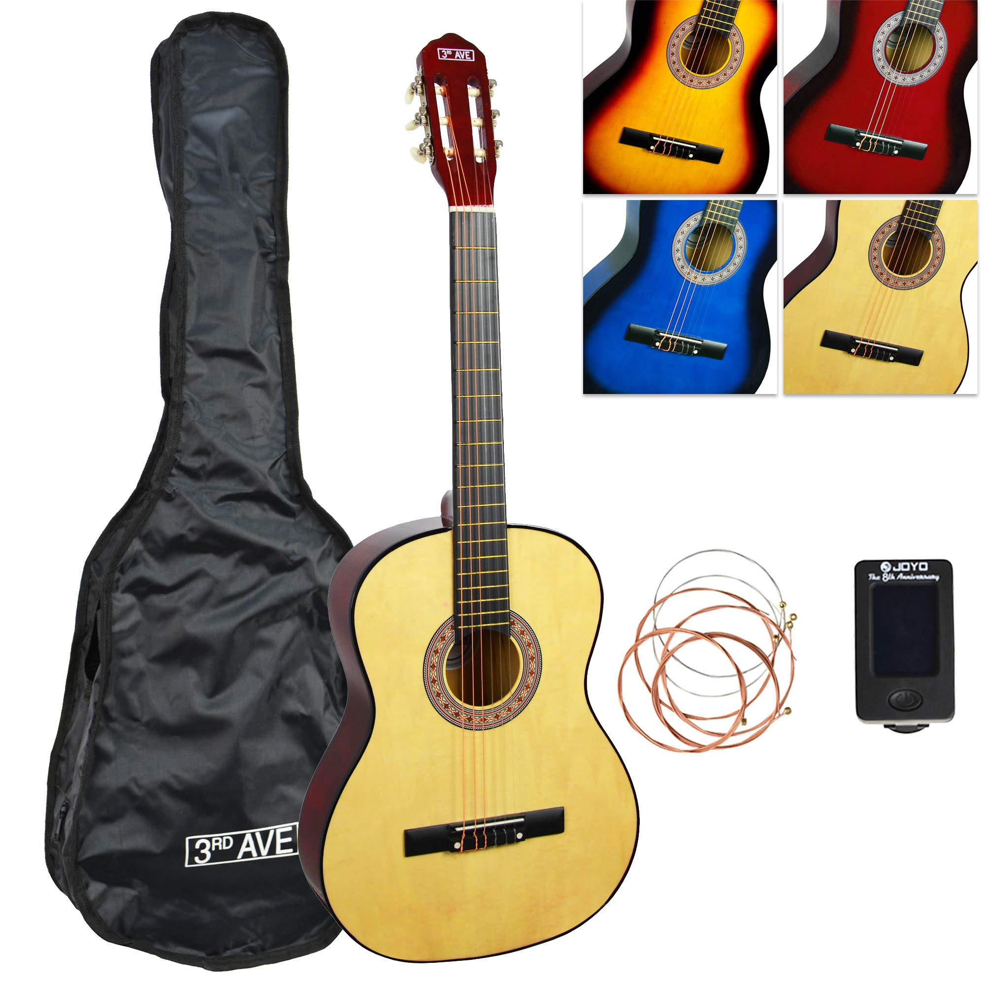 3rd Avenue 3/4 Size Classical Guitar Starter Pack - Natural