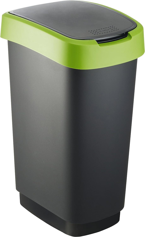 Rotho Cubo de Basura, Polipropileno, Verde, 50 L