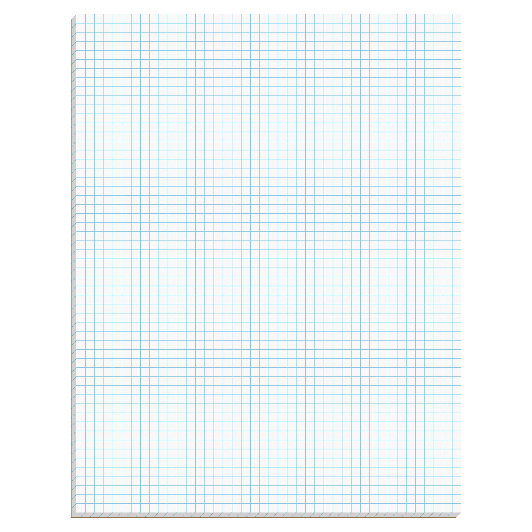 Ampad Efficiency Quadrille Pad, 8-1/2 x 11, White, 5x5, 50 Sheets per Pad, 10 Pads per Pack (22-032C) by Ampad