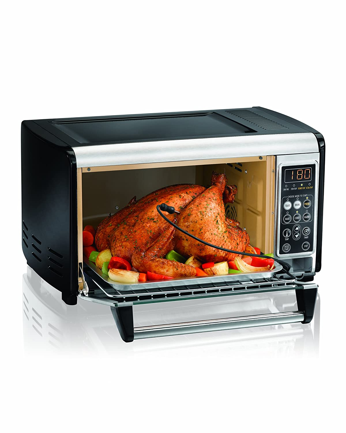 Amazon.com: Hamilton Beach 31230 Set & Forget Toaster Oven with Convection  Cooking: Kitchen & Dining