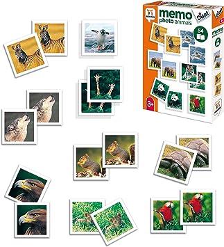 Oferta amazon: Diset- Memo Photo Animals Juego Educativo para Niños, Multicolor (68941)