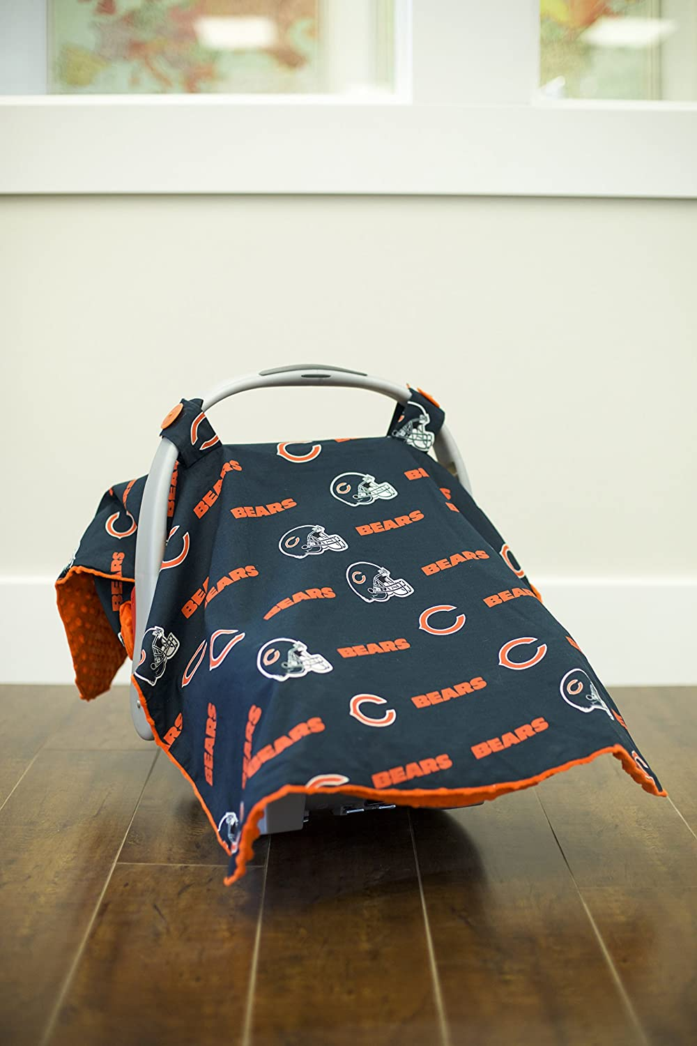 Chicago bears bathroom accessories - Amazon Com Carseat Canopy Nfl Chicago Bears Baby Infant Car Seat Cover Baby