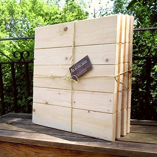 Amazon Com Rustic Pallet Wood Sign Blanks Bulk Pack Of Diy Wood