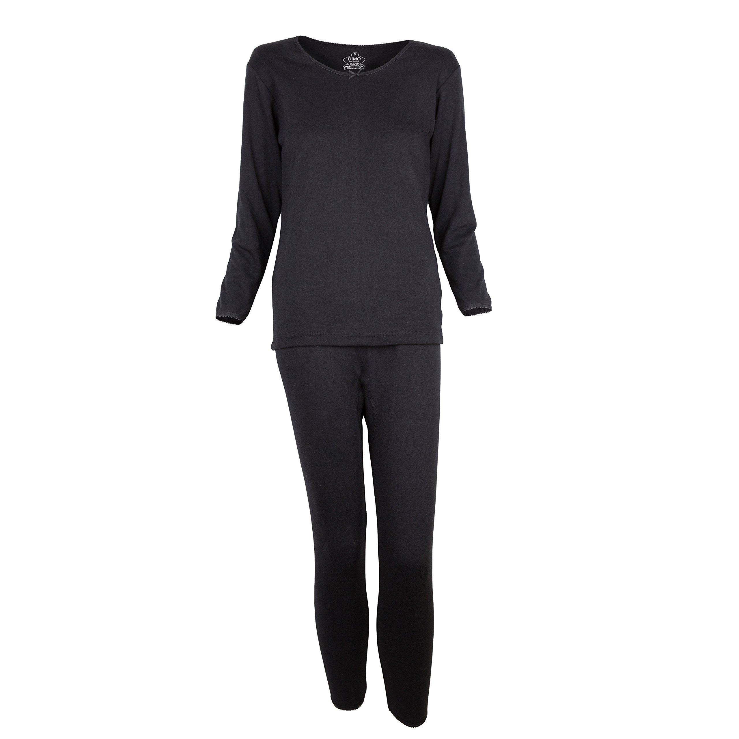 Nile Cotton Dimo Women Long Johns Thermal Set, Fit As Pajama (X Large)