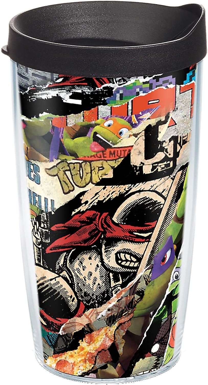 Tervis Nickelodeon - Teenage Mutant Ninja Turtles Collage Insulated Tumbler, 16oz, Clear - Tritan