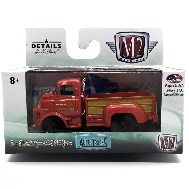 M2 Machines 1958 Dodge COE Truck Bright Red /& Gold Panels Auto-Trucks Series Release 38-2016 Castline Premium Edition 1:64 Scale Die-Cast Vehicle R38 16-21