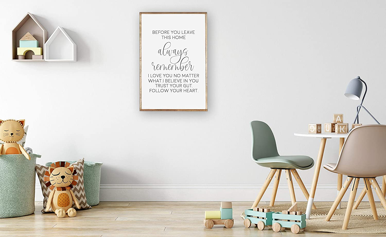 Amazon Com Promini Before You Leave This Home Wood Framed Sign Always Remember I Love You Entry Decor Sign Entryway Farmhouse Decor Sign Inspirational Quote 8x12 Inch Wooden Sign Wall Art Home Decor