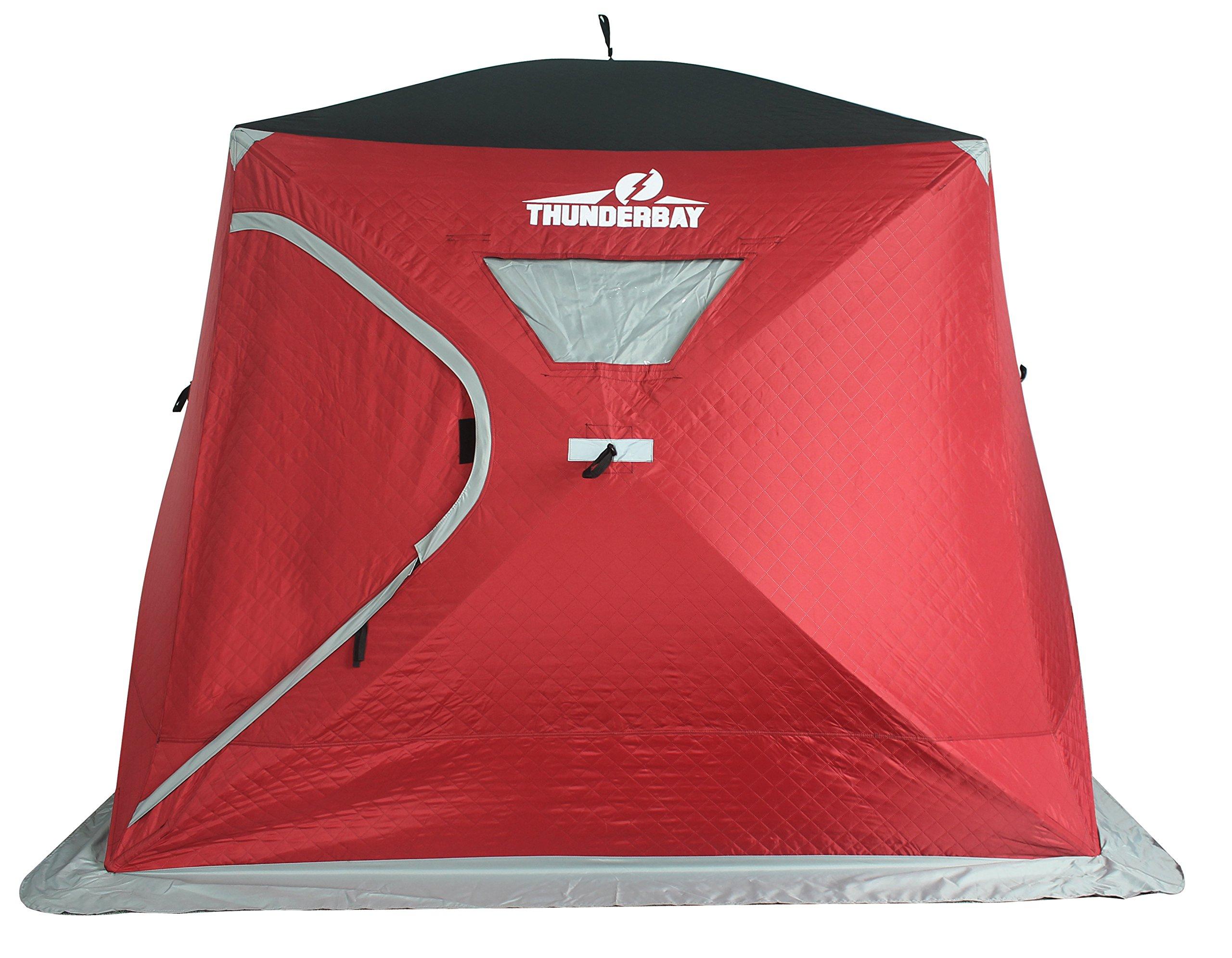 ThunderBay V1554 4 Man Wide Bottom Insulated Ice Shelter by ThunderBay