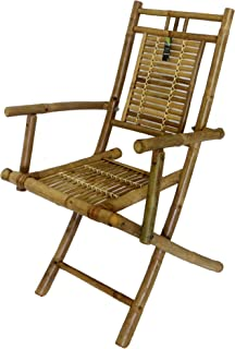 Foldable Bamboo Chair with Arm Rests  sc 1 th 288 & Amazon.com : Bamboo Recliner Chair [Set of 2] : Patio Recliners ... islam-shia.org