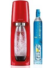 Sodastream - Spirit Rouge - Machine à gazéifier l'eau avec 1 cylindre et 1 bouteille