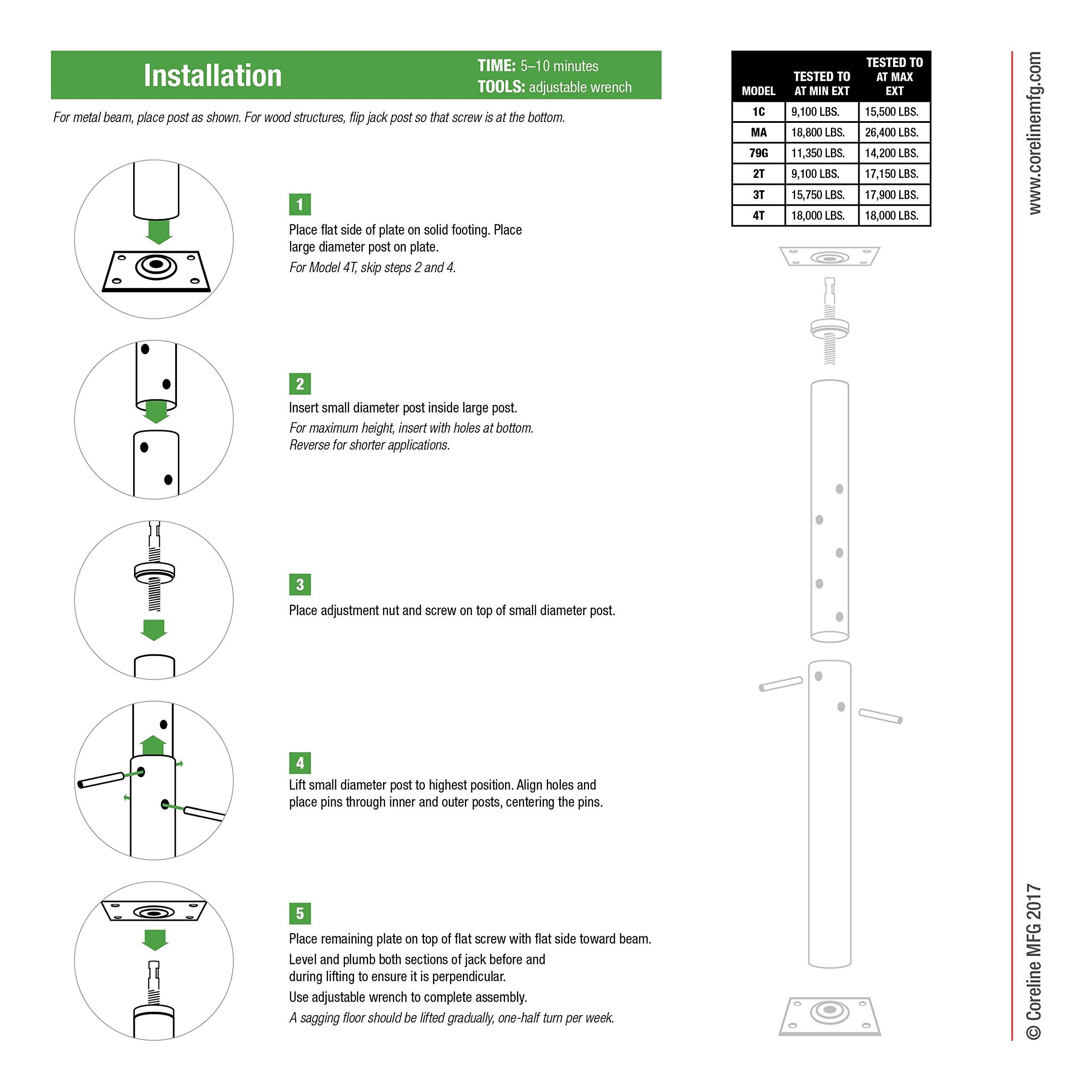 Grow Co. Adjustable Floor Jack - 17,500-Lb. Capacity, Model# 3T by CORELINE (Image #3)
