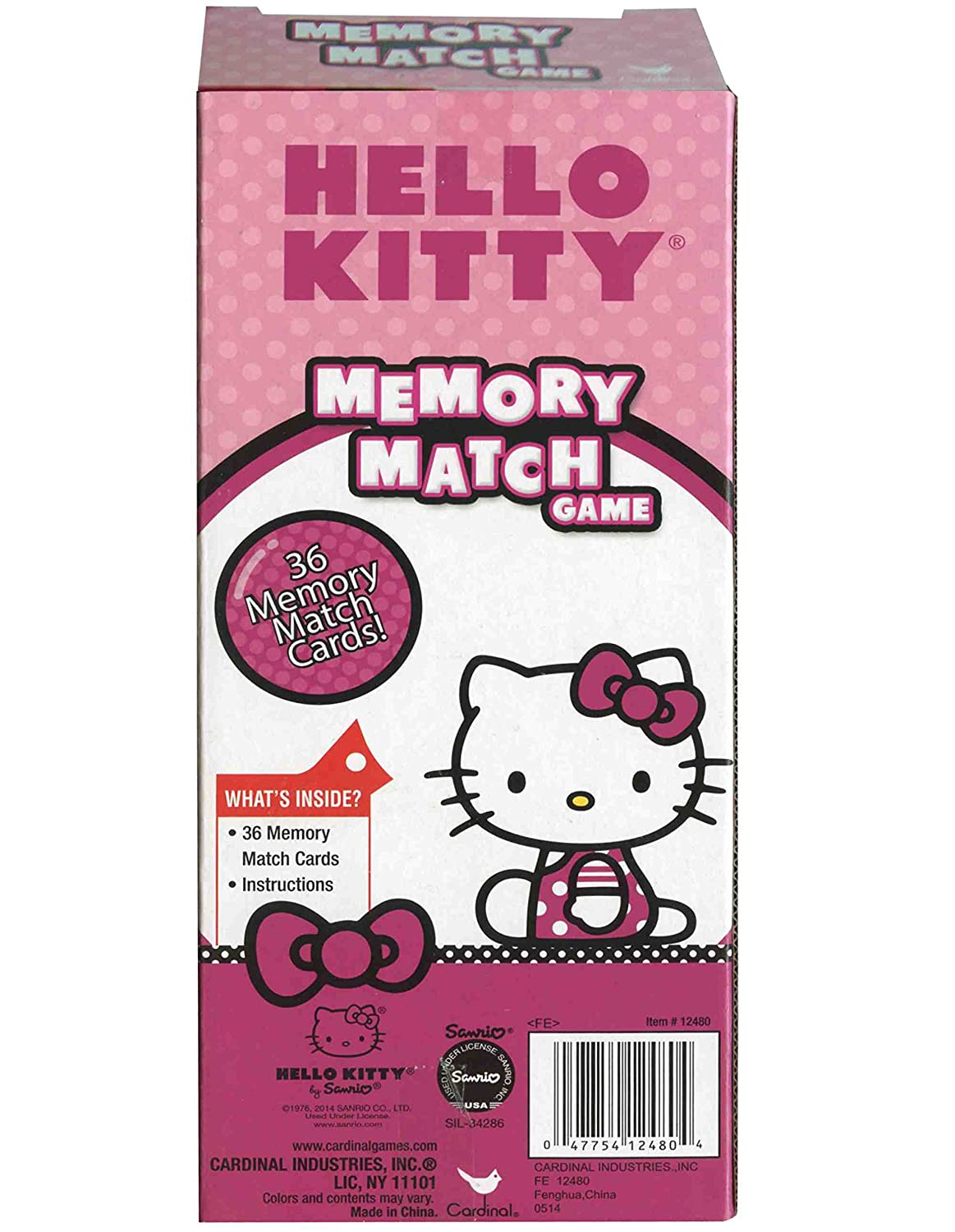Uncategorized Hello Kitty Matching Game amazon com 1 x hello kitty memory match game by sanrio toys games