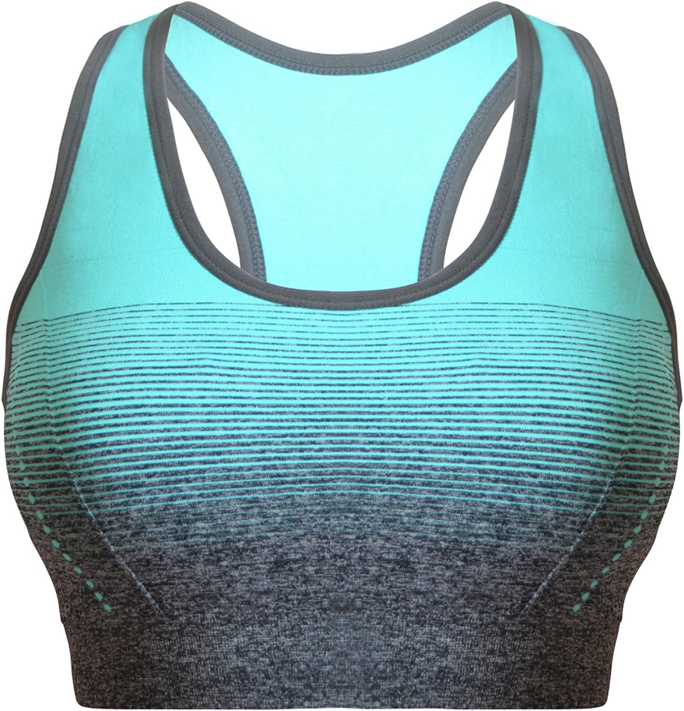 Libella Mujer Sujetador Deportivo Push Up Bustier con Amplio Correas Fitness Yoga Camisetas Sin Mangas 3738