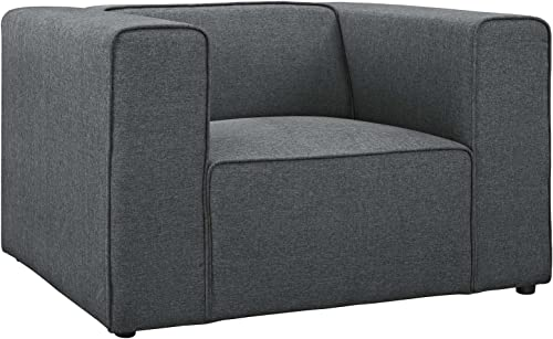 Modway Mingle Upholstered Fabric Generously Padded Accent Arm Lounge Chair