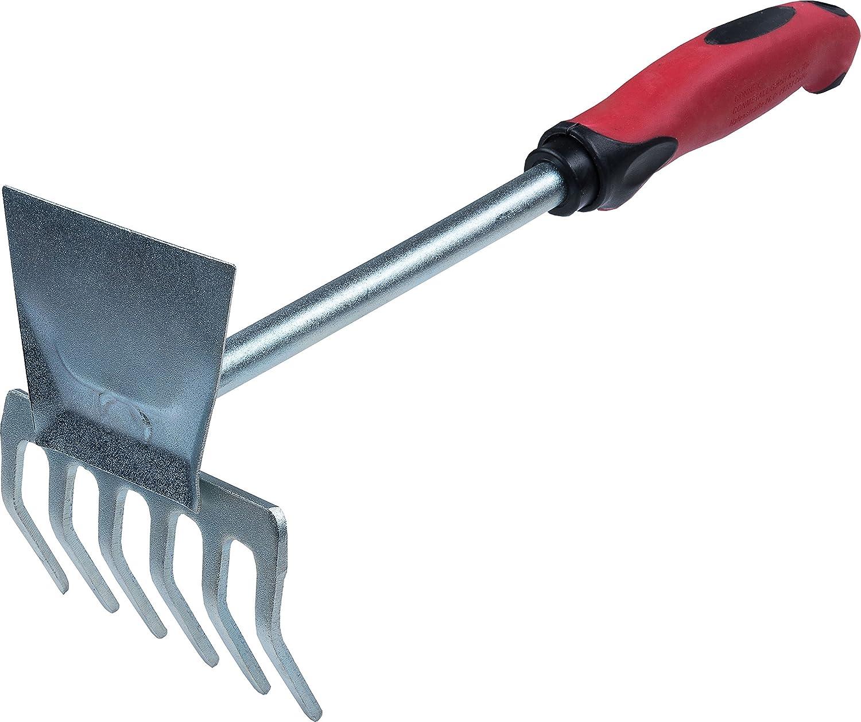 Connex FLOR65420 - Rastrello zincato, con impugnatura in plastica