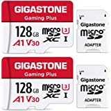 Gigastone 128GB 2-Pack Micro SD Card with Adapter, Gaming, A1, U1 C10 Class 10 100MB/s, Full HD available, Micro SDXC UHS-I M