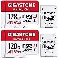 Gigastone 128GB Tarjeta de Memoria Micro SD, Paquete de 2 con Adaptador, Gaming, A1, U3 C10 Clase 10 100MB / s, Full HD…