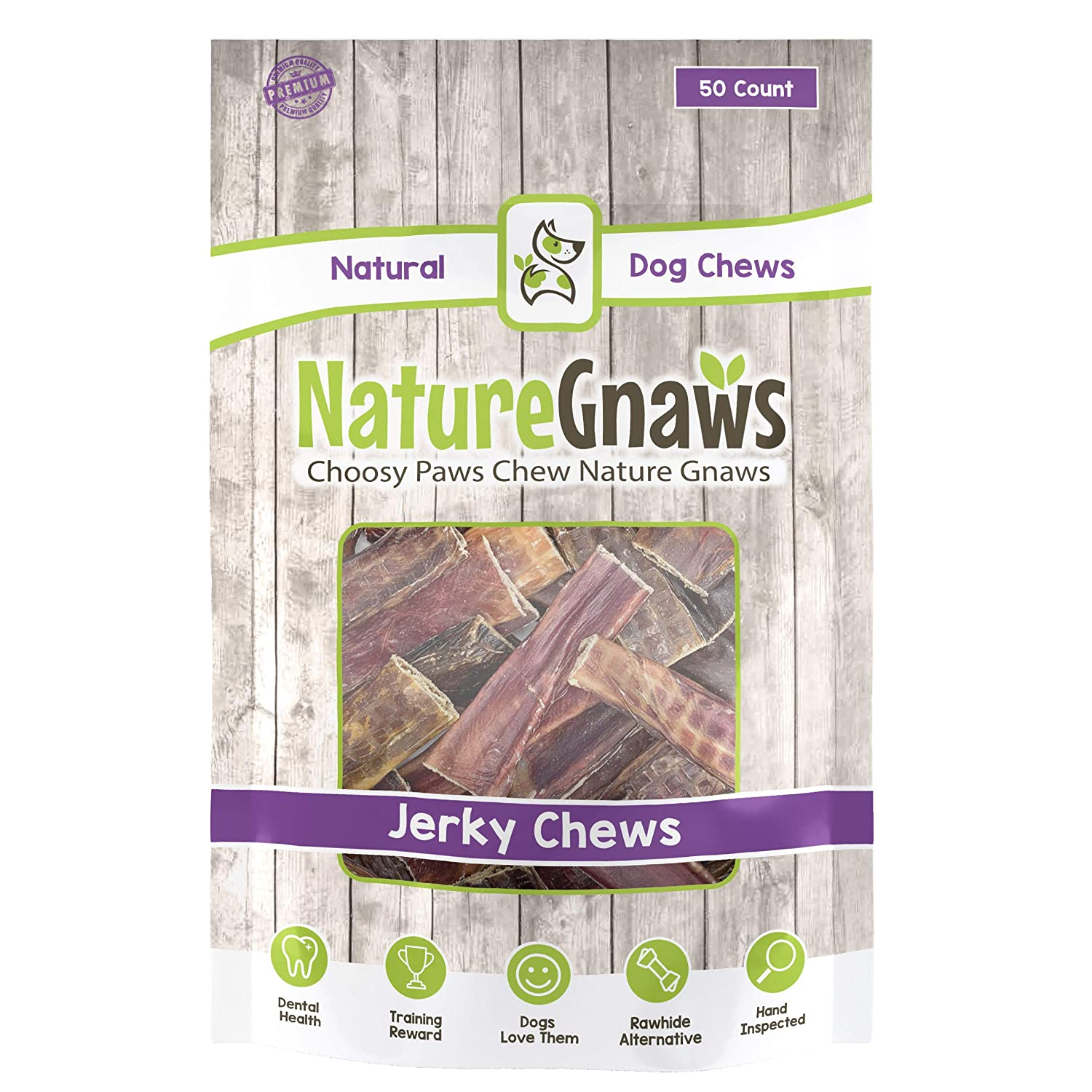 Nature Gnaws Beef Jerky Chews – 100 Natural Beef Sticks for Small Dogs