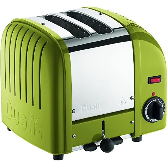 Dualit Classic 2 Slice Toaster in Citrine Green
