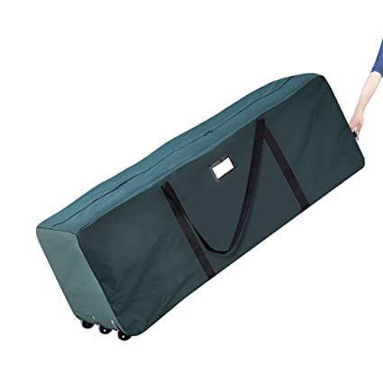 Elf Stor Premium Green Rolling Duffel Bag Style Christmas Tree Storage Bag   Holds A 12