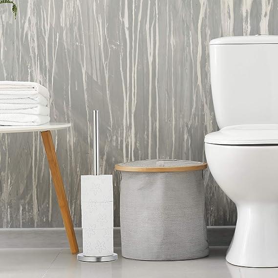 Klorollenhalter stehend Klopapier Aufbewahrung Klopapierhalter stehend Ersatzrollenhalter Toilettenpapier HENNEZ/® Toilettenpapier Aufbewahrung Klorollenaufbewahrung Toilettenpapierhalter stehend