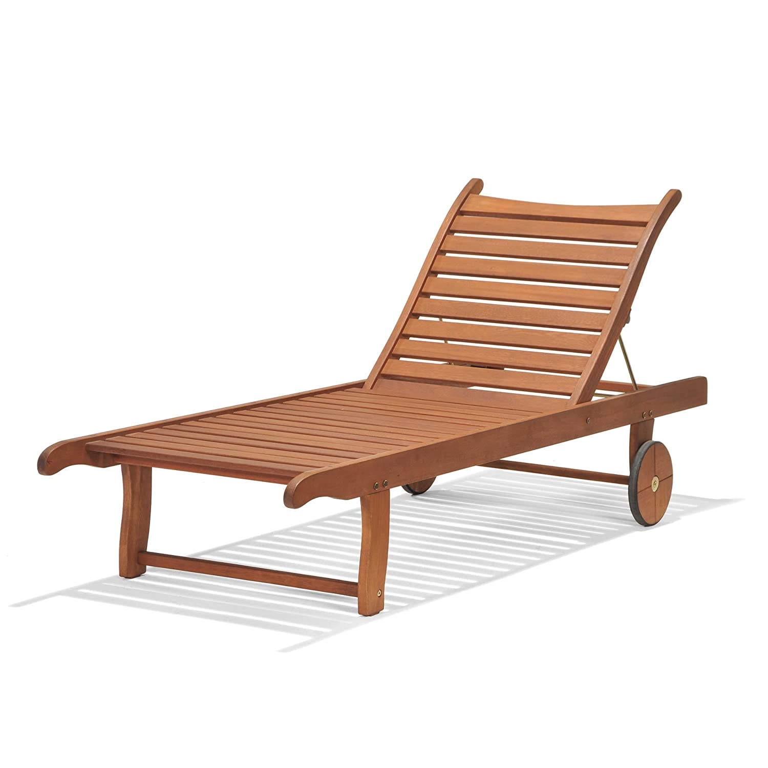Chichester FSC Eucalyptus Wood Outdoor Sunlounger With Weather Tex