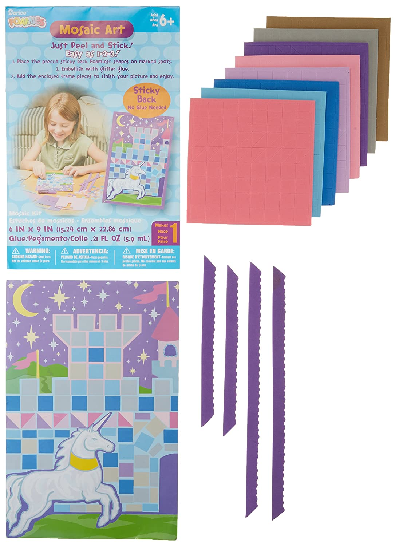 Amazon.com: Darice Mosaic Art Foam Kits: Castle/Unicorn ...