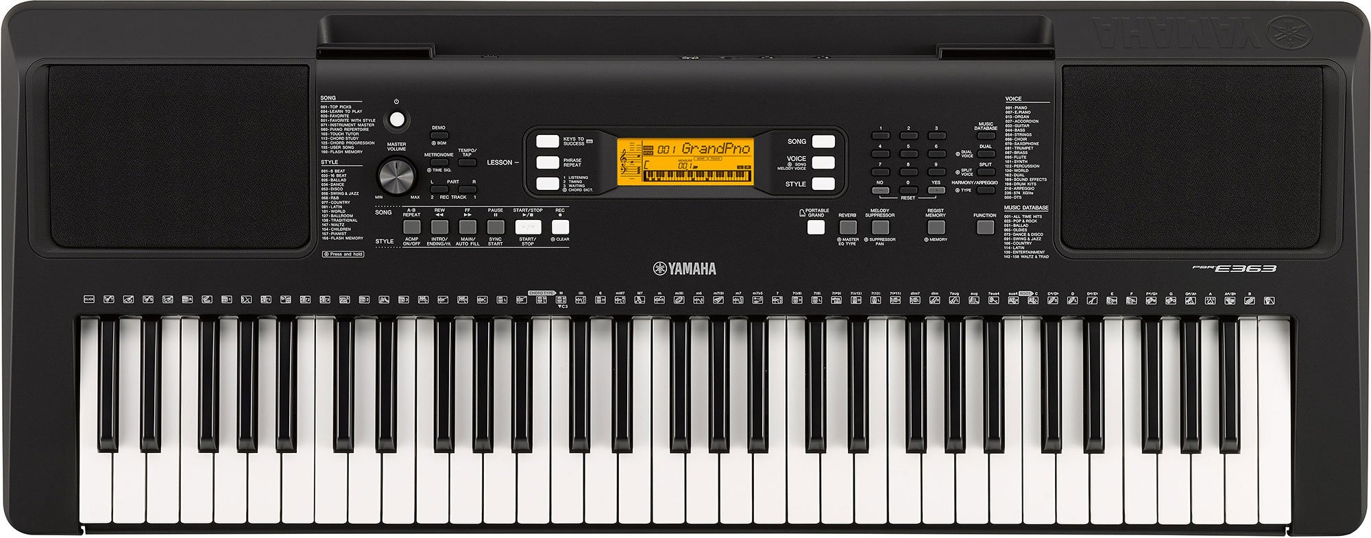 Yamaha PSR-E-363 61-Key Touch Sensitive Portable Keyboard by YAMAHA