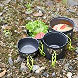 Egofine Backpacking Camping Pots and Pans Set