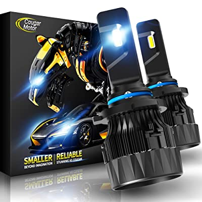 Cougar Motor X-Small 9006 LED Headlight Bulb, 10000Lm 6500K (HB4) All-in-One Conversion Kit - Cool White CREE: Automotive