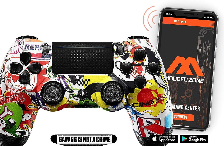스티커 폭탄 PS4 프로 스마트 빠른 화재 MODDED 컨트롤러 개조 FPS 모든 주요 슈팅 게임 WARZONE 및 더(CUH-ZCT2U)
