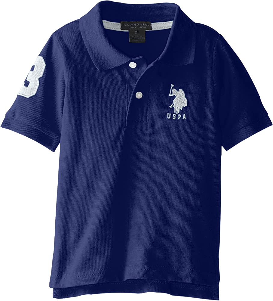 23a3749ce91d Amazon.com: Short Sleeve Solid Pique Polo, SE96-Marina Blue, 2T: Clothing