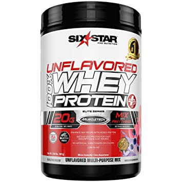 Six Star Elite Series 100% Whey Protein Powder Plus Muscle Builder, 20g  Ultra-