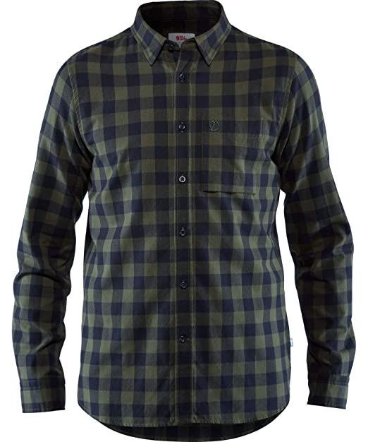 Fjallraven Övik Check Mens Shirt Long Sleeve Deep Forest All Sizes