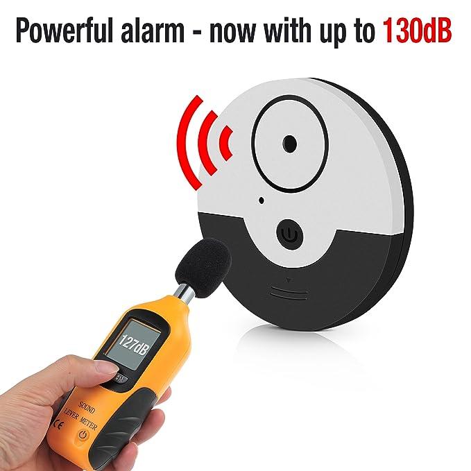 tritace Ventana Alarma con Vibración Sensores Juego | 130 dB Volumen | Mini alarma - Detector de rotura de vidrio - Alarma de rotura para ventanas, ...