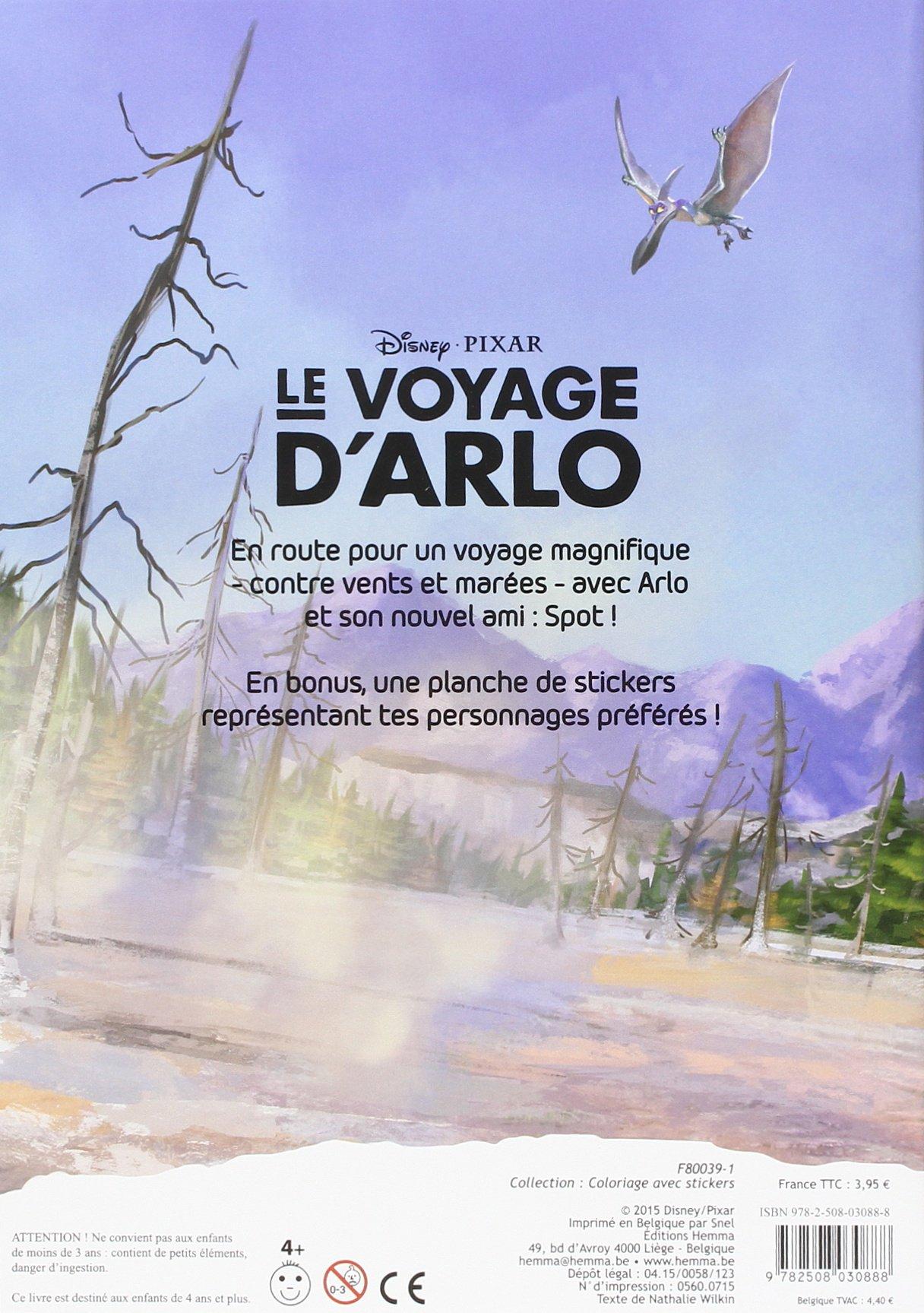 Disney Pixar Le voyage d'Arlo Coloriage + stickers ! (Coloriage