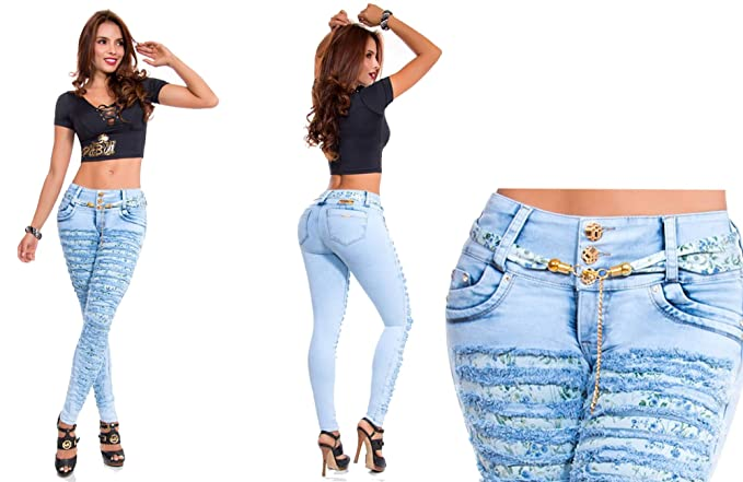 HADABELLA Vaqueros Jeans Rasgados Wonder/Push Up Súper ...