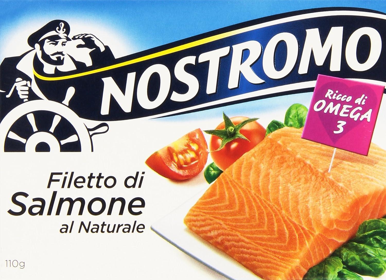 Nostromo - Filetto Di Salmone, Al Naturale, 110 G: Amazon.it ...