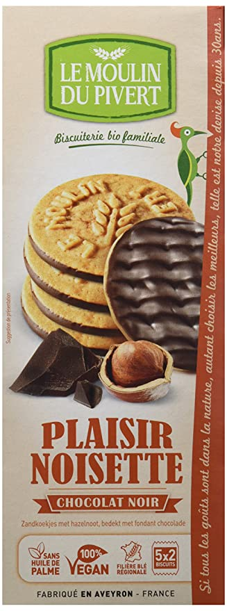 Le Moulin Du Pivert Galletas Placer de Chocolate y Avellanas - Paquete de 12 x 130 gr - Total: 1560 gr: Amazon.es: Alimentación y bebidas