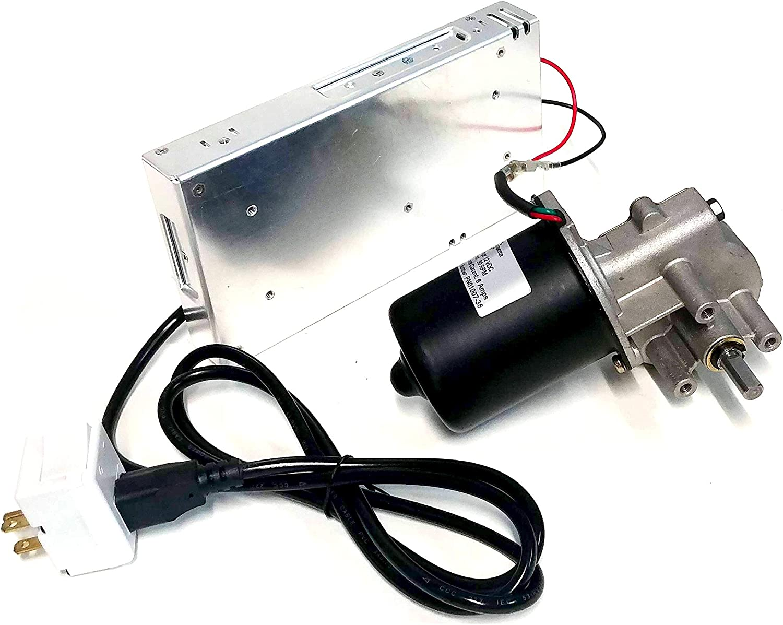Makermotor Reversible Electric Gear Motor 24v DC 50RPM Gearmotor Reverse Switch